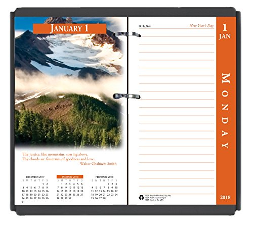 House of Doolittle 2018 Desk Calendar Refill, Daily, Earthscapes, Fits #17 Base, 3.5 x 6 Inches, January - December (HOD417-18)