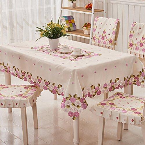 Nappe européenne Nappes Tissu Brodé Nappe Européenne Table Basse Tissu Violet (taille : 68 * 128cm)