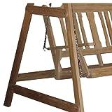 Holz Hollywoodschaukel Premium Teak 3 Sitzer - 2