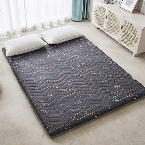 LXSHMF Japanese Tatami Mattress Futon,Thick Floor Mat Dormitory Mattress Topper Single Double Mattress Pad Roll-up Bed Mat Easy Storage G 180x200cm(71x79inch)