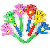 MINGZE 12 Pezzi 24cm Clapper in plastica, Battimano in plastica Clappers per Mani applausi, Colori Assortiti Bomboniere Giocattolo Caccia di Pasqua Clappers