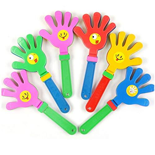 MINGZE 12 Stück 24cm Kunststoff Handklöppel, Handklatsche Klapperhand Klatschhand Krachmacher,, Party Favors, Spielzeug für Kinder, Ostern Jagd