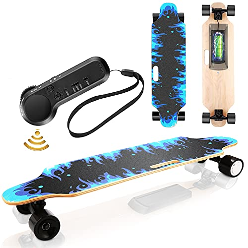 Electric Skateboard Youth Electric Longboard with Wireless Remote Control, 12 MPH Top Speed, 10 KM...