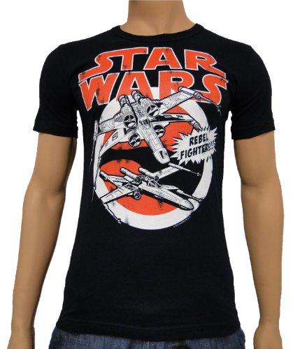 Star Wars - X-ailes T-shirt femmes / hommes unisexe très haute qualité d'impression grande marine avant XS-XXL - XXL