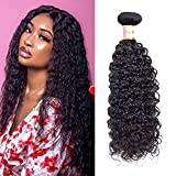 Tinall Hair Brazilian Virgin Kinky Curly 1 Bundles 10 Inch 100g 10A 100% Unprocessed Human Hair Bundles Curly Weft Extensions Weaves Natural Black