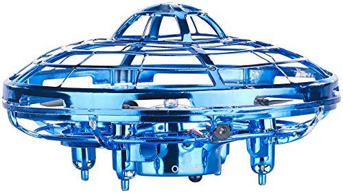 Simulus Selbstfliegende Drohne: Selbstfliegendes 3D-Quadrocopter-UFO, Vertikal- & Horizontal-Sensoren (UFO Spielzeug)