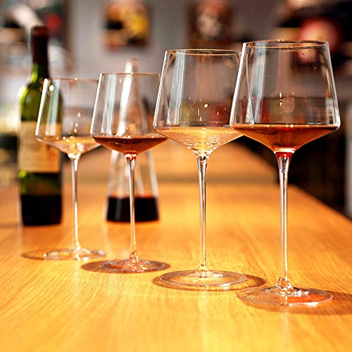 N/A Copa de Vino cáliz, cáliz de Cristal casero Personalizado, Decanter-580ml 4 Palos