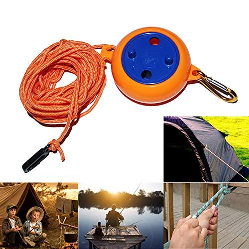 Wankd Tendedero Retráctil Extensible Cuerda de Tendedero para Camping con robusto mecanismo retráctil manual, de plástico, para cuarto de baño, lavadero, jardín o viaje al aire libre