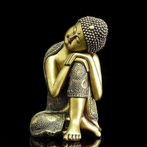 YHCH Thai Buddha,Zen Home Decor Buddha Statue Shakyamuni Sculpture Polyresin Gifts&Decor Sleeping Buddha 9.4inch