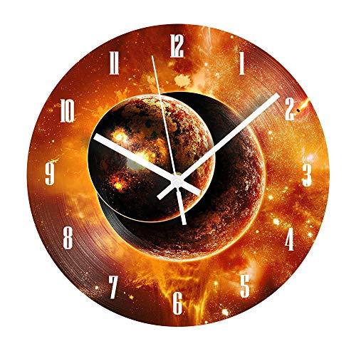 HHKLSF Sun Reloj De Pared Digital Decorativo Números Arábigos Silencioso Shabby Chic Reloj De Registro para La Decoración del Hogar De La Sala De Estar