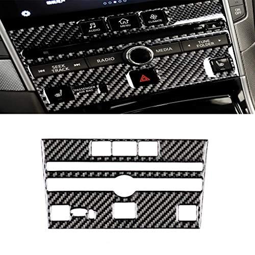Car Holder Remote-Car Key-Car Phone Sticker Fibra del carbonio dell'automobile Console CD Pannello decorativo Sticker for Infiniti Q50 / Q60