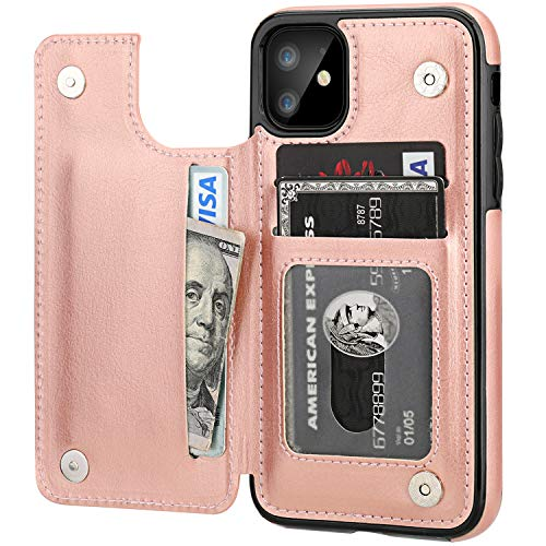 iPhone 11 Wallet Case with Card Holder,OT ONETOP PU Leather Kickstand...