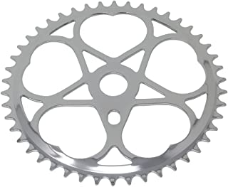 Fenix Sweet Heart Bike Sprocket/Chainring, 46T Chrome, Various Thickness