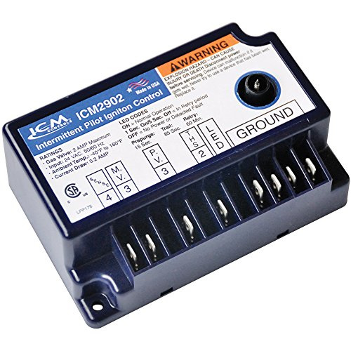 ICM Controls ICM2902 IPI Gas Ignition Control Replacement for Popular Models, Including Lennox 30W33 and JCI G776RGD-14 Series Controls