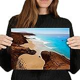 Póster de vinilo de Fuerteventura Canarias Beach Art Print (29,7 x 21 cm, 280 g/m², 280 g/m², satinado)