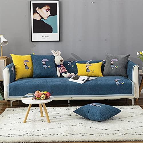KENEL Multifunktion Sofabezug, Bank/Stuhlbezug, Armlehnenbezug, Vier Jahreszeiten Universal Sofa Kissenbezug Handtuch-70 * 180 cm_Blau-Verkauft in stück