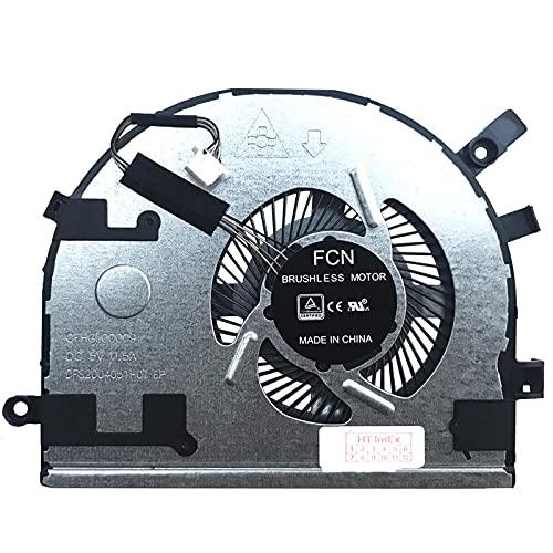 Ventilador de refrigeración compatible con Lenovo Yoga 510-14IKB, 510-14IKB (80VB), 510-14ISK, 510-14ISK (80S7)