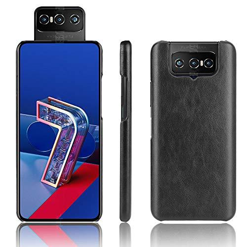 SPAK Cover ASUS Zenfone 7 ZS670KS/7 PRO ZS671KS Custodia,Pelle PU Caso Duro della Copertura del per ASUS Zenfone 7 ZS670KS/7 PRO ZS671KS (Nero)