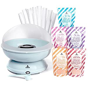 Carnus CN1000-S Cotton Candy Maker, 5 Sugar Packs