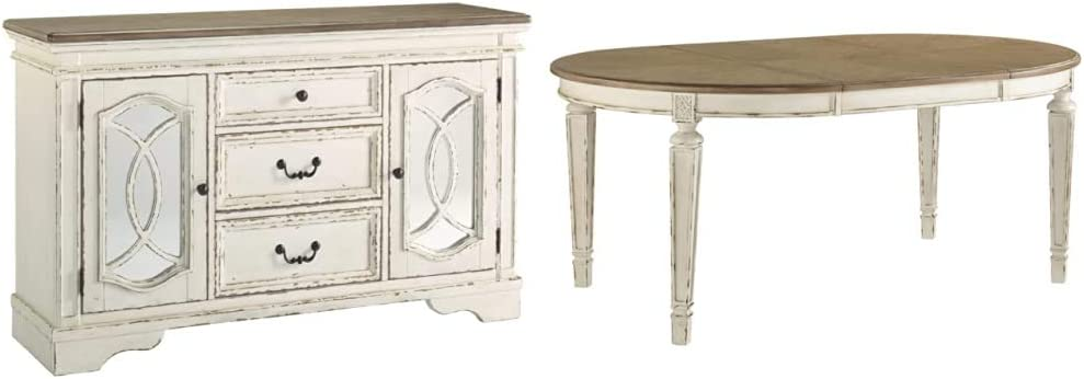 Signature Atlanta Mall Design Japan Maker New by Ashley Realyn Server Wh Room Dining Chipped