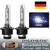 2 x D2S 35W Xenon Brenner 10000K Reines Blau HID Xenon Scheinwerferlamp 12V Super Extrem Hell Laser...