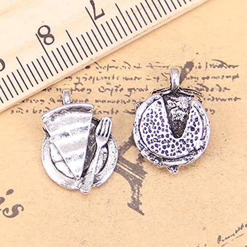 WANM Ciondoli Antichi Breloques in Piatto Torta 19X13Mm Fette di Argento Tibetano Collana Vintage Self Doing 14 Pz