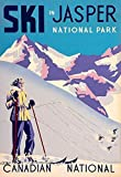 TOCMANE Poster Ski in Jasper NAT Park Skifahren Kanada