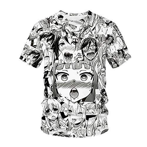 lilang T-Shirt Ahegao Anime 3D Imprimer Homme Femme Streetwear Anime Hiphop T Shirt Harajuku Harajuku Casual Tops Vêtements Fille Sexy AT463211S XXL