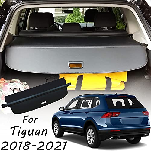 CARORMOKE Retractable Cargo Cover Privacy Shade Trunk Cover Black Compatible with 2018-2021 VW Volkswagen Tiguan (Upgrade Version: Including a Small Flap)