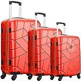 Collection CAMBERRA - Lot de 3 valises ZIFEL - ABS - 4 Roues - 50cm - 60cm - 70cm