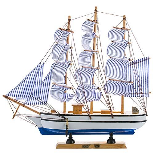 DANJIA Velero de Madera sólida gabinete del Vino Adornos Decoraciones caseras Accesorios del velero de Navegación Modelo Barco