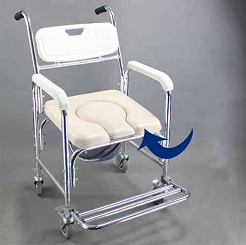 JMung'S Mobiler Toilettenstuhl HöHenverstellbar Nachtstuhl Fahrbarer Drive Medical Auf Rollen Neu FüR die Professionelle Pflege CST-2182, u