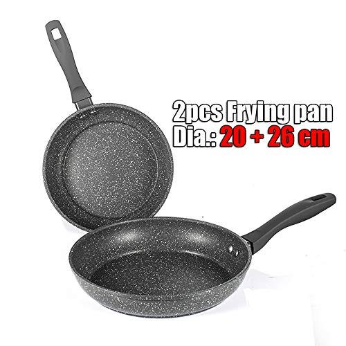 20/26 Zoll Non-Stick Kupfer Bratpfanne mit keramischer Beschichtung und Induktion Kochen, Backofen/Spülmaschinenfest 2pcs Fying pan Set