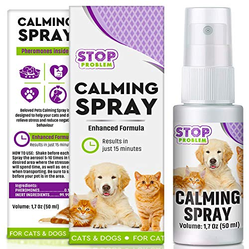 Beloved Pets Pheromone Calming Spray for Cats and Dogs50ML with LongLasting Effect  Enhanced Calm Formula of Anxiety Relief amp Behavior Control  Best Natural Stress Prevention for Pets