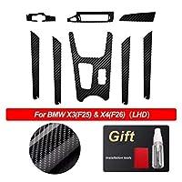 Phoenixset BMW X3 F25 x 4 F26アクセサリーのための反射カーの内部トリムの保護フィルムの装飾5D炭素繊維のビニールのステッカーフィット (Color Name : Left hand drive 2)