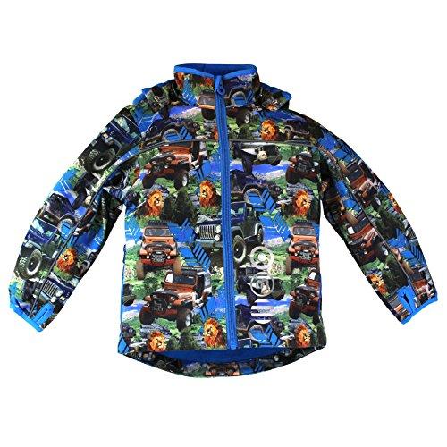 Minymo Kinder Softshelljacke bunt Safari, Größe:104;Farbe:clear blue