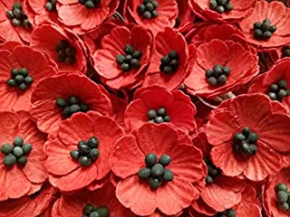 red poppy paper flowers
