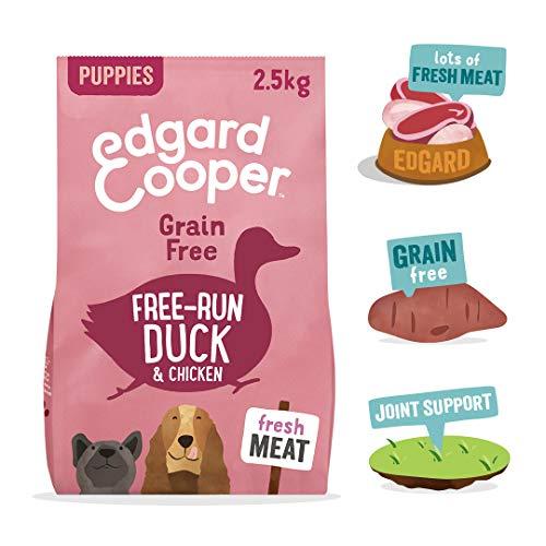 Edgard & Cooper Puppy Freilauf-Ente & Huhn – Komplettes Trockenfutter für Welpen, ohne Getreide, verpackt mit frischem Fleisch