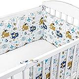 Cojin protector cuna 420 x 30 cm - chichonera bebe cuna Algodón con Motivo de...