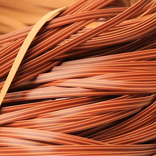 Queenbox 8 mm * 10 m Gradiente de Tejido de ratán Plano, reparación de ratán sintético Material de Punto Plástico de ratán para Muebles para el hogar de Bricolaje, Mesa de Silla, Cesta de almacenamie
