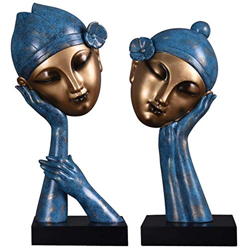 Jueven Creativo Chica contemplativa Personajes Artesanía Mobiliario Decoraciones americanas Vinoteca Decoración de la sala Armarios...