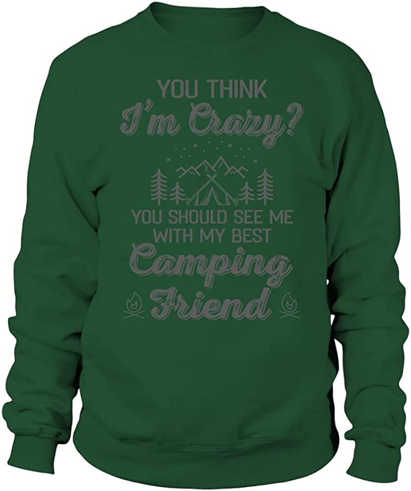 TEEZILY Unisex Sweater You Think I'm Should Attention brand See Many popular brands w me ? Crazy