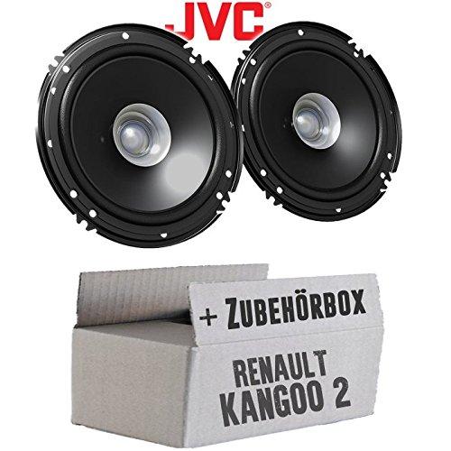 Lautsprecher Boxen JVC CS-J610X - 16cm Auto Einbauzubehör 300Watt Koaxe KFZ PKW Paar - Einbauset für Renault Kangoo 2 Front - JUST SOUND best choice for caraudio