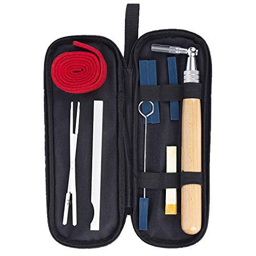 Piano Tuning Kits 9 Pieces Piano Tuning Tools Professional Piano Tuner Set Including Tuning Wrench Hammer, Temperament Strip, Mute Kit