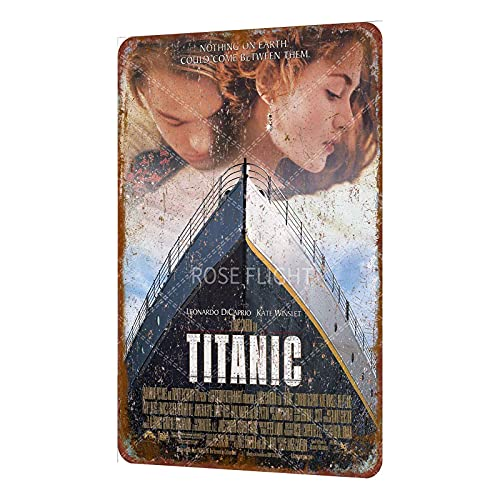 Rose Flight Titanic Leonardo DiCaprio Kate Winslet Film Film Vintage Metal Tin...
