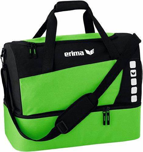 Erima CLUB 5 Sporttasche mit Bodenfach, Green/Schwarz, L