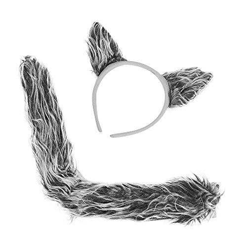 Wolf Costume Accessories - Wolf Ears & Tail Set by Funny Party Hats