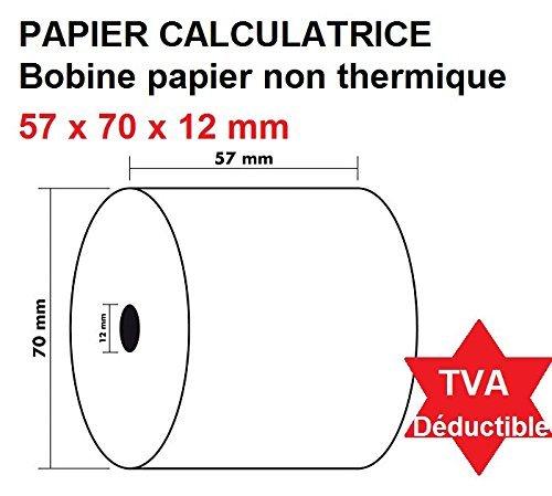 5 rollos de recarga para calculadoras y cajas registradoras con impresión no...