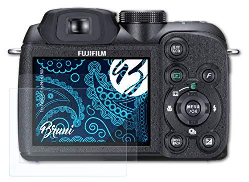 Bruni Schutzfolie kompatibel mit Fujifilm FinePix S1500 Folie, glasklare Displayschutzfolie (2X)