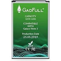 GadFull Batería de reemplazo para Samsung Galaxy Note 3 | 2019 Fecha de producción | Corresponde al Original EB-B800BE | Compatible con GT-N9000 | GT-N9005 | GT-N9006 | GT-N9009